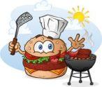 hamburger-cheeseburger-cartoon-character-grilling-chef-hat-hamburgers-hotdogs-over-charcoal-grill-outside-summer-39796486
