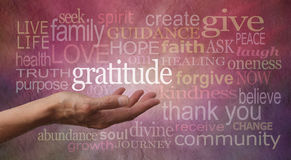 gratitude-attitude-female-hand-outstretched-palm-up-word-hovering-above-stone-effect-background-covered-45381538